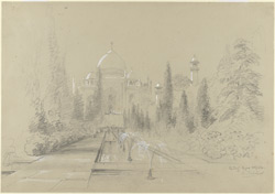 The Taj Mahal, Agra (U. P.). 24 January 1870